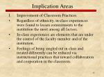 implication areas