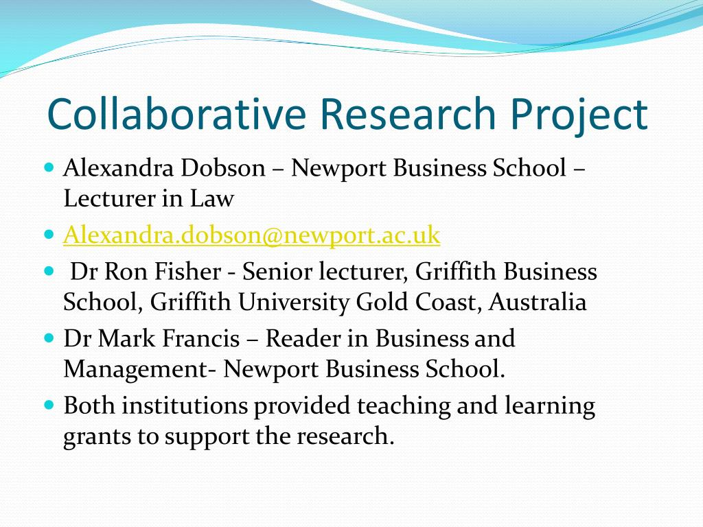 Collaborative Research Project