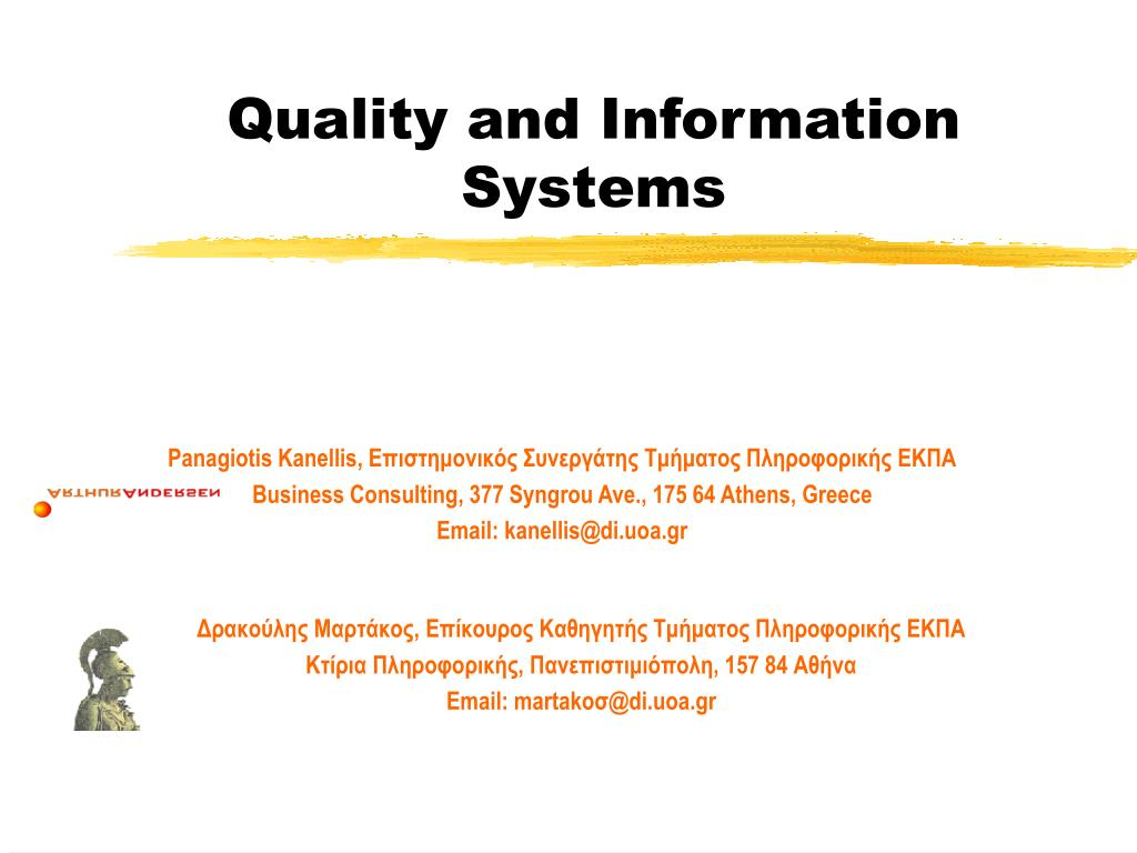quality and information systems l.