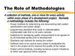 the role of methodologies