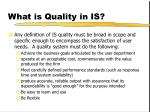 what is quality in is