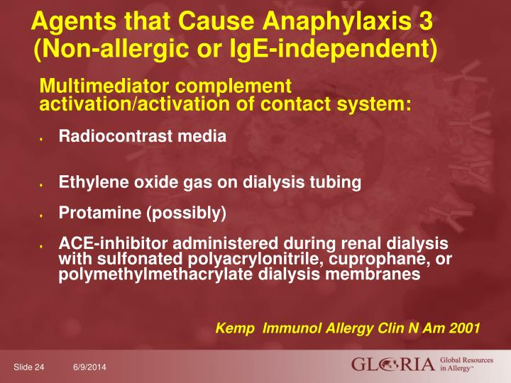 Agents that Cause Anaphylaxis 3