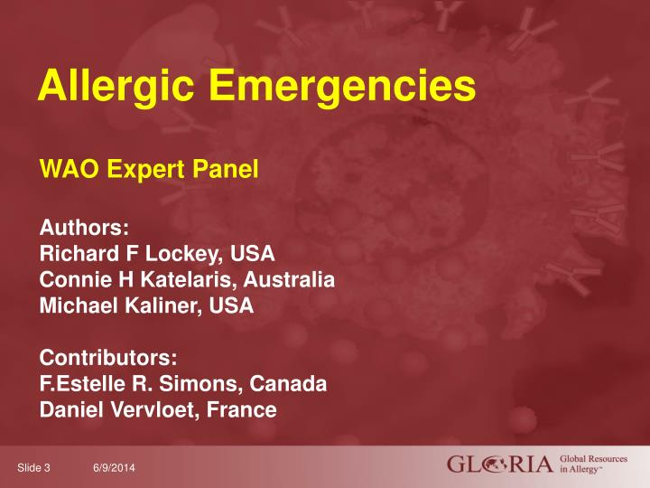 Allergic emergencies
