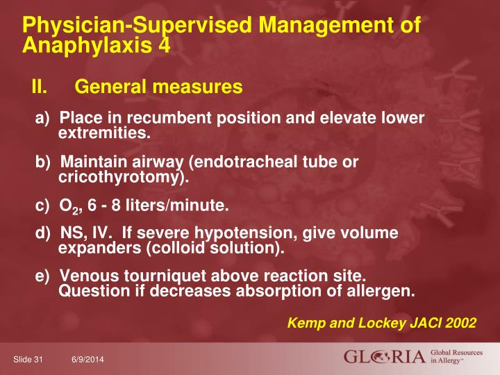 Physician-Supervised Management of Anaphylaxis 4