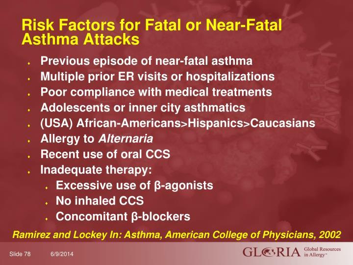 Risk Factors for Fatal or Near-Fatal