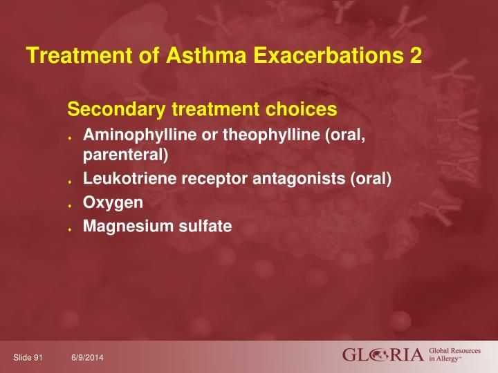 Treatment of Asthma Exacerbations 2