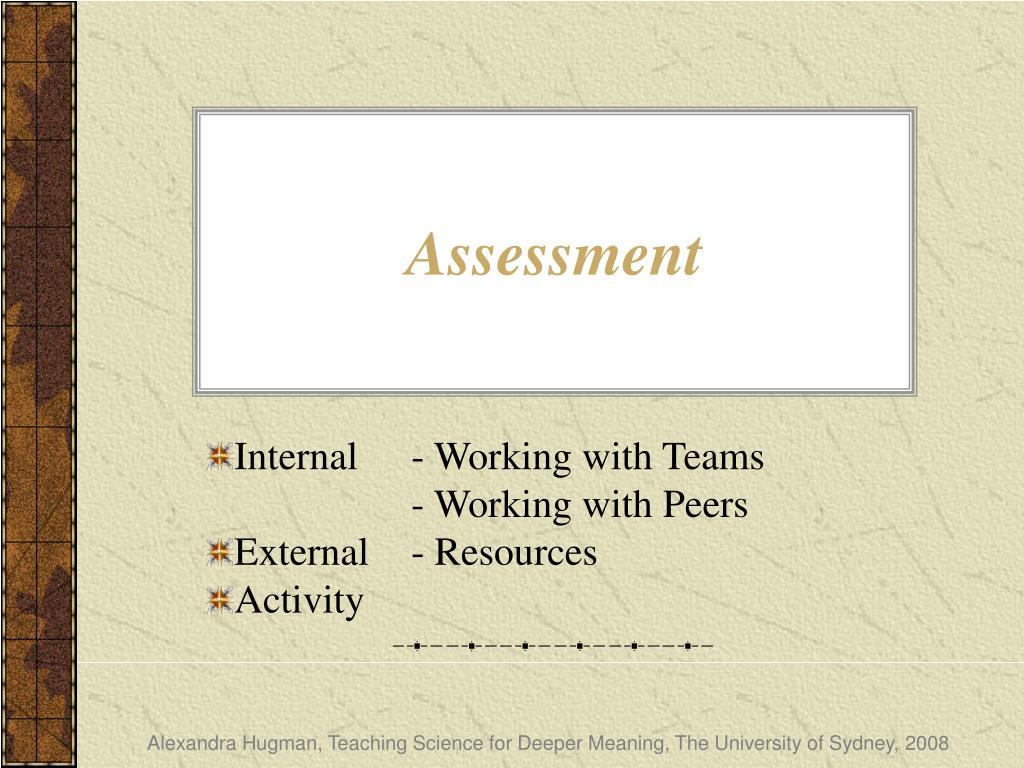 assessment l.