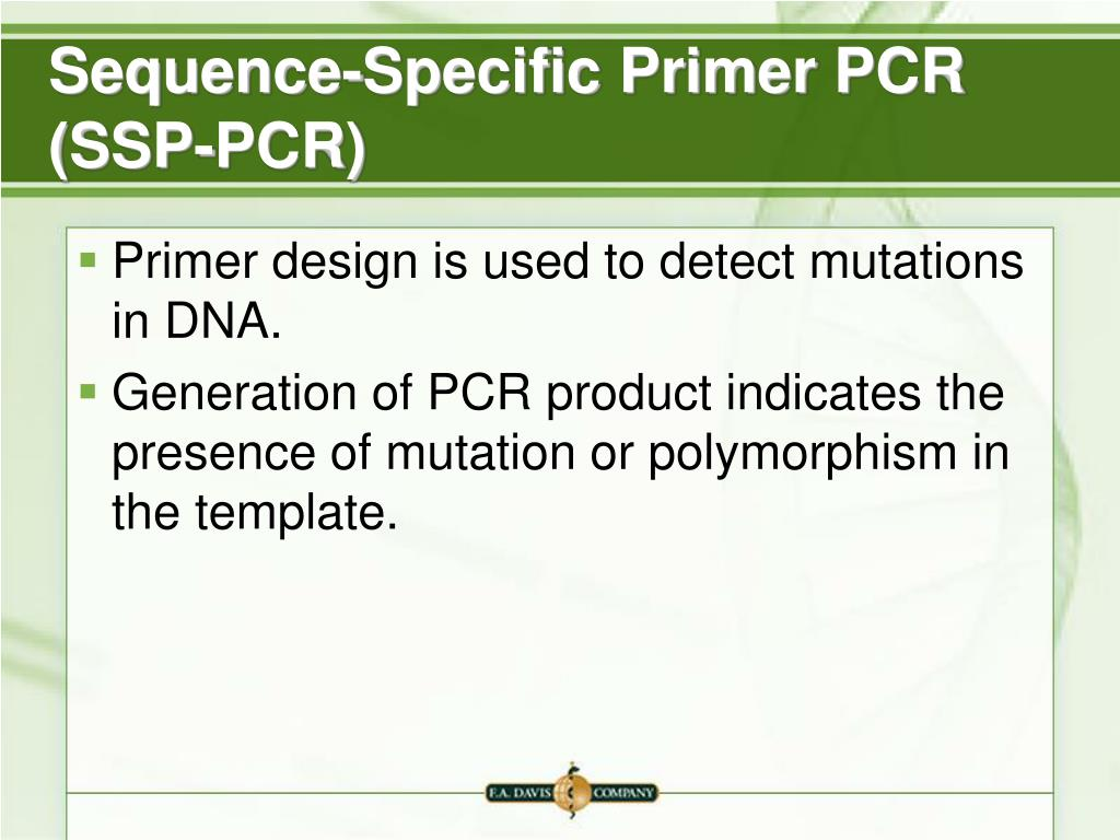 Sequence-Specific Primer PCR