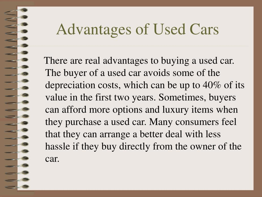 Advantages of Used Cars