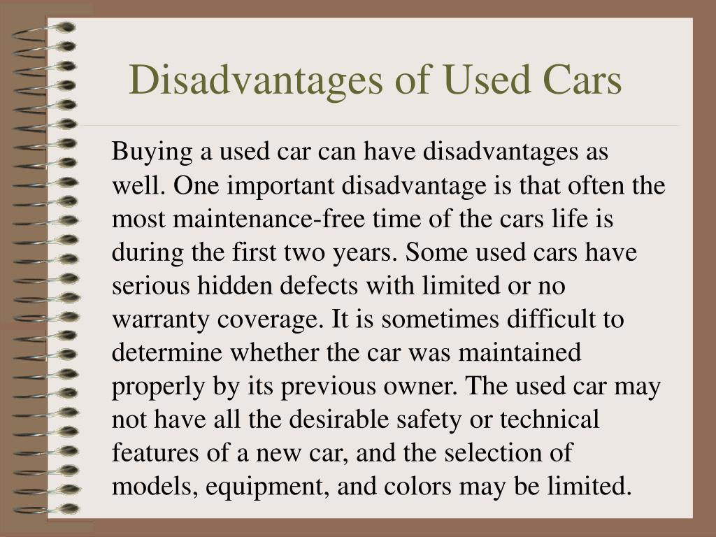 Disadvantages of Used Cars