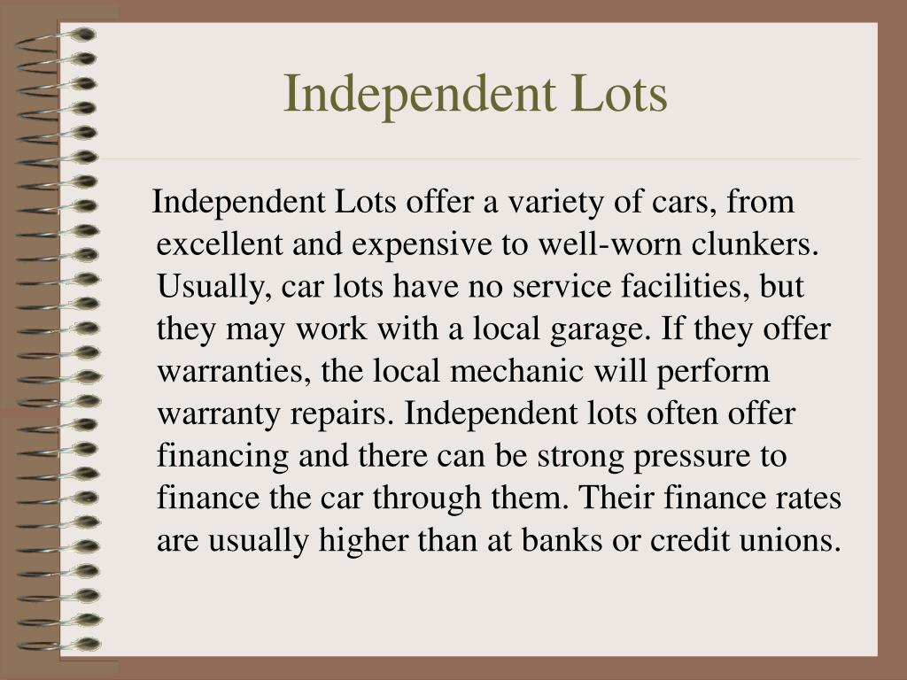 Independent Lots