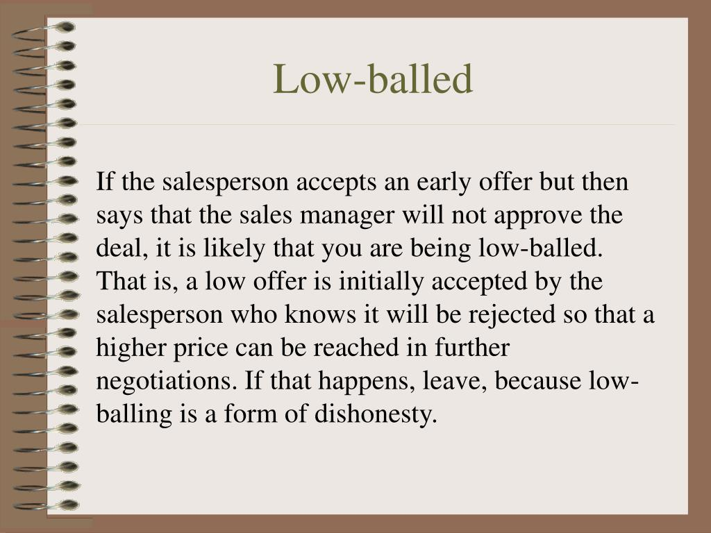Low-balled
