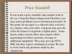 price standoff