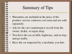 summary of tips33