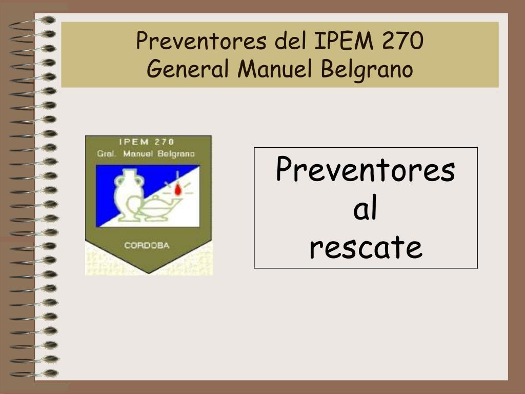 preventores del ipem 270 general manuel belgrano l.