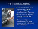 step 2 used car bargains