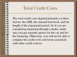 total credit costs