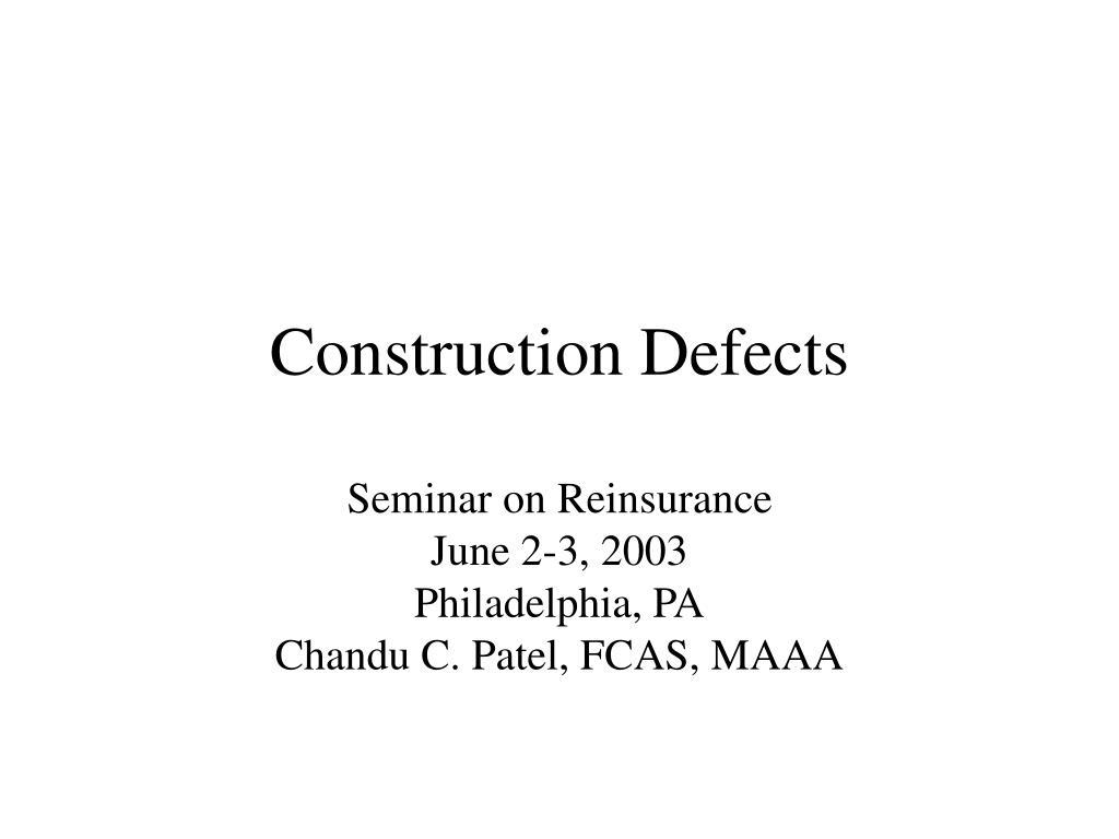 construction defects l.
