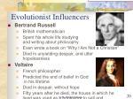 evolutionist influencers
