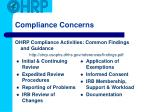 compliance concerns