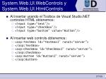 system web ui webcontrols y system web ui htmlcontrols27