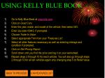 using kelly blue book