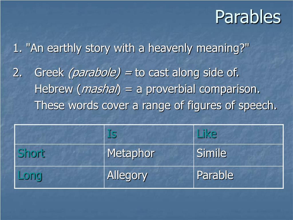 parables l.