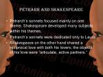 petrarh and shakespeare