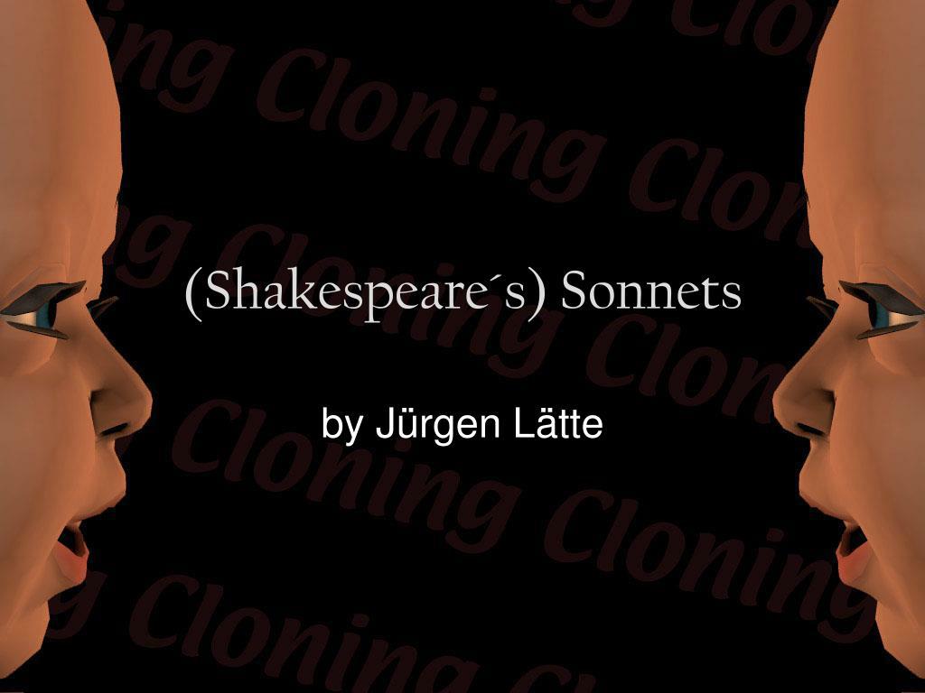 shakespeare s sonnets l.