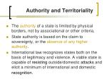 authority and territoriality