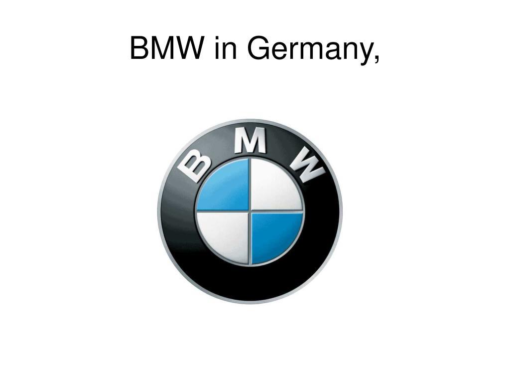 BMW in Germany,