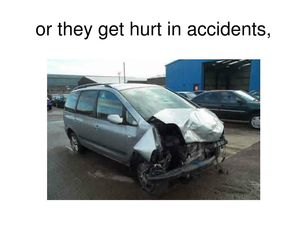 or they get hurt in accidents,