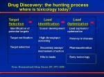 drug discovery the hunting process where is toxicology today