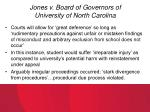 jones v board of governors of university of north carolina
