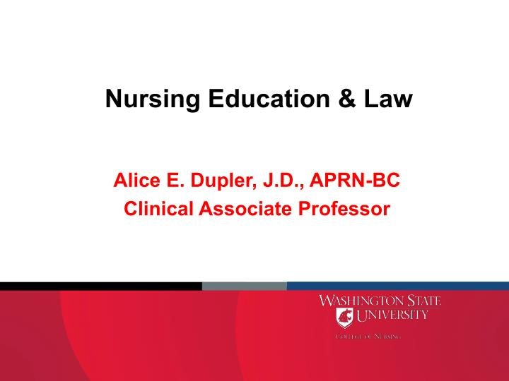 nursing education law n.