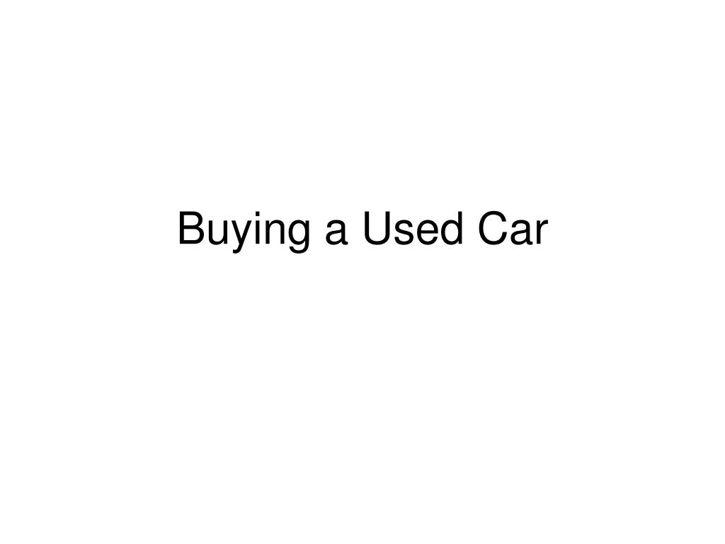 buying a used car l.