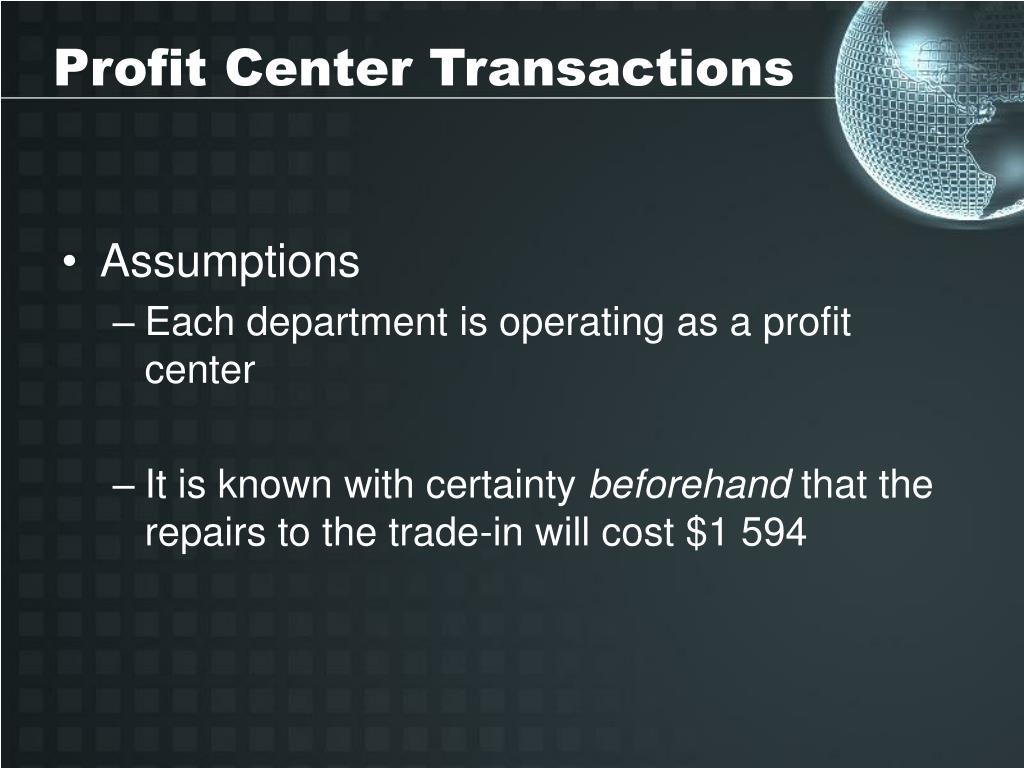 Profit Center Transactions