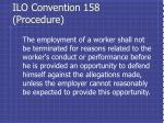 ilo convention 158 procedure