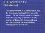 ilo convention 158 substance