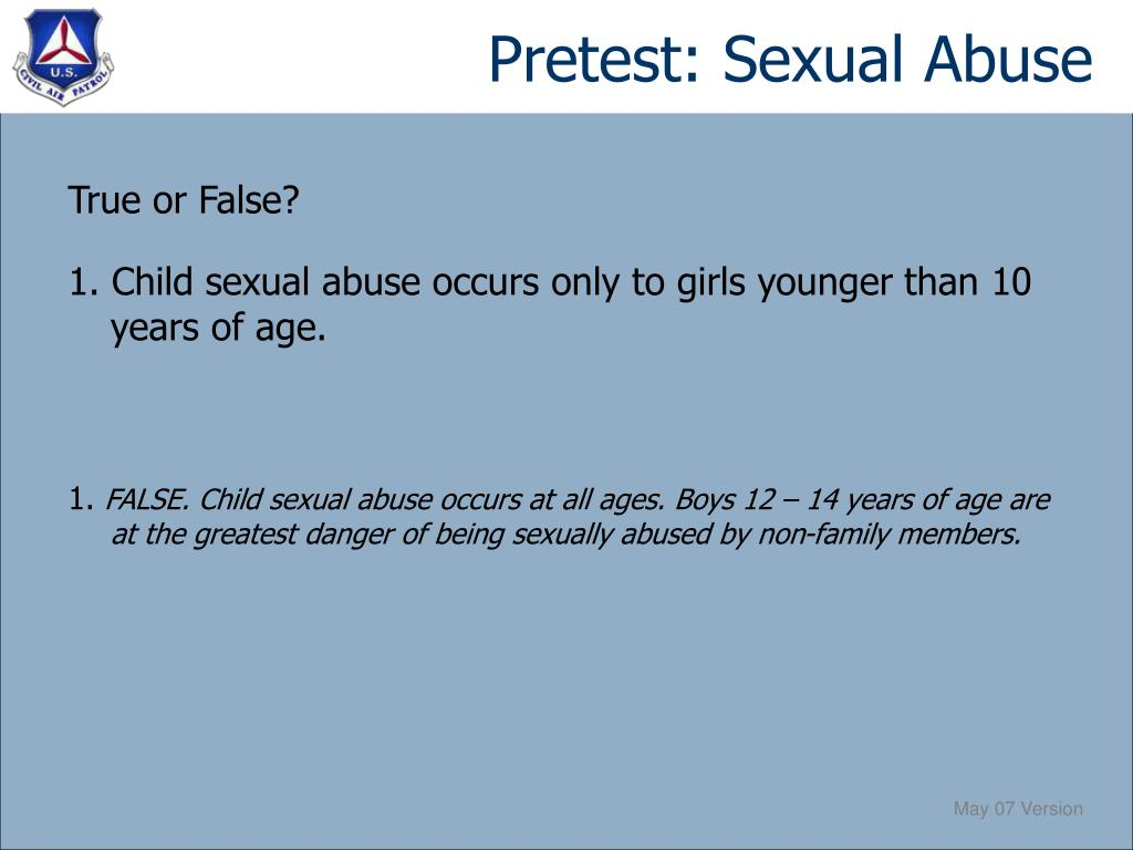 Pretest: Sexual Abuse