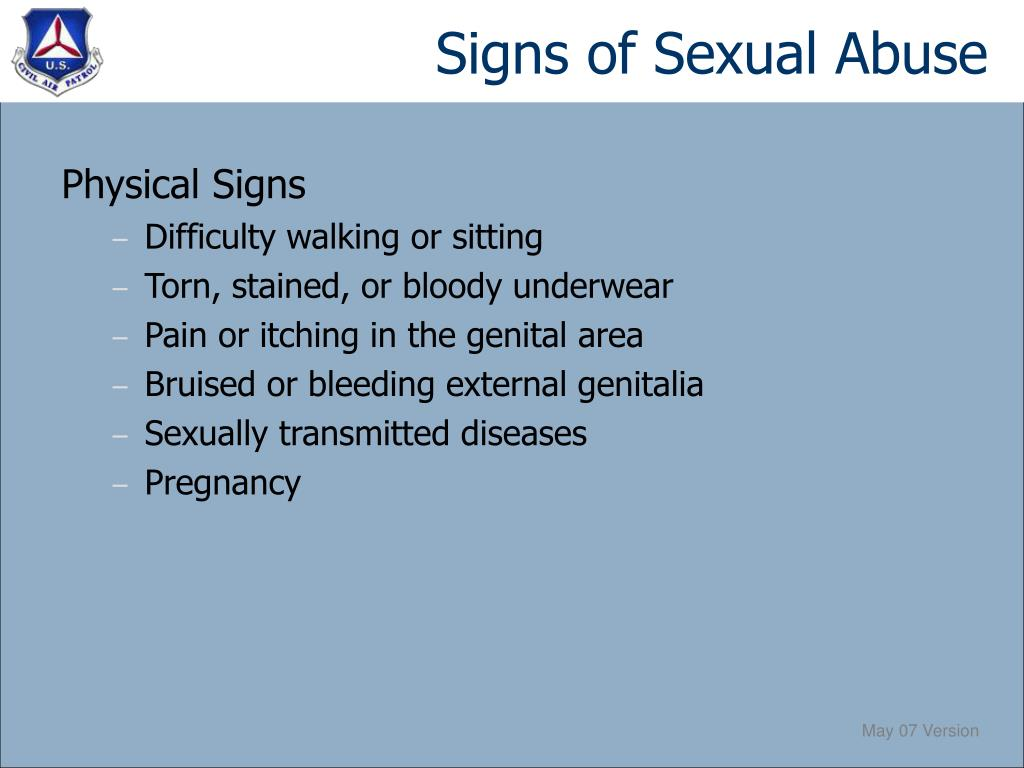 Signs of Sexual Abuse