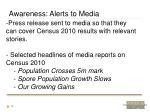 awareness alerts to media