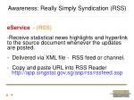 awareness really simply syndication rss