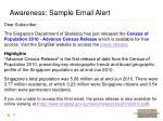 awareness sample email alert