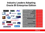 industry leaders adopting oracle bi enterprise edition
