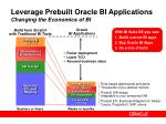 leverage prebuilt oracle bi applications changing the economics of bi