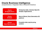 oracle business intelligence comprehensive integrated best of breed bi solutions