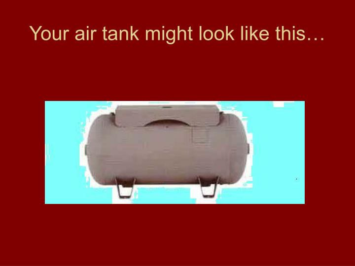 Your air tank might look like this