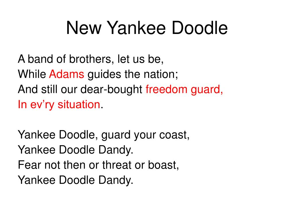 new yankee doodle l.