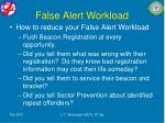 false alert workload